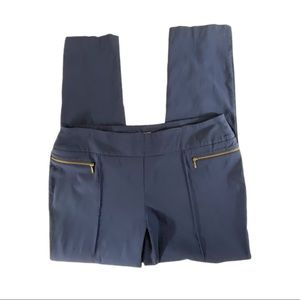 CHICO'S So Slimming Navy Pull On Pants Zippers